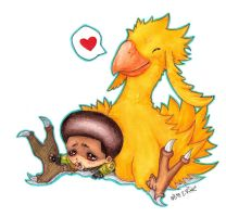 chocobos just grow too fast... by mockingbee