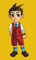 [Art Trade] Young Apollo Justice [animated] by CaimanR