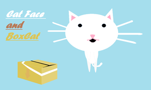 CatFace and BoxCat by hetaliamegafan