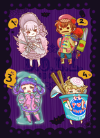 ADOPTABLES SALE [OPEN]! Halloween Series by dolladopt