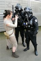 Rey and TIE pilots Cosplay by masimage