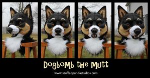 Dogbomb the Mutt - fursuit head by stuffedpanda-cosplay