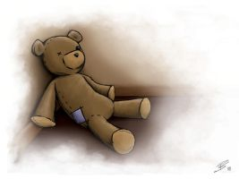 Neglected Teddy by berrijuse