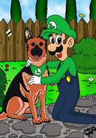 Luigi best friend by Princesa-Daisy