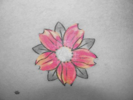 tatoo flower by elysa88
