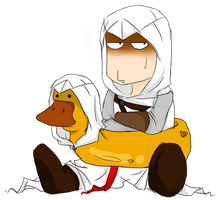 Altair and Mister Duck by Mirian