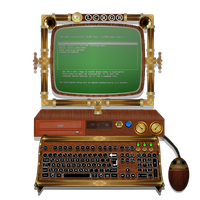 Steampunk Victorian Monitor Icons Final by pendragon1966