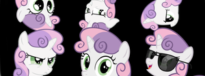 Cant enough Sweetie Belle for your facebook by AphxTwn666