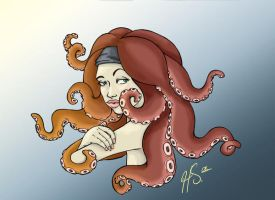 octopus hair by VODKABABY