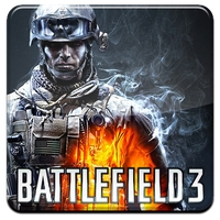 Battlefield 3 HQ DOCK ICON with logo PNG by Djblackpearl