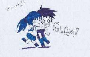 Chibi Glomp by Inventor757