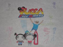 Pucca Free Riders by rabbidlover01