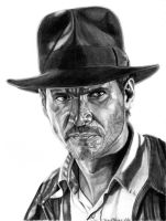 Indiana Jones with Fedora by khinson