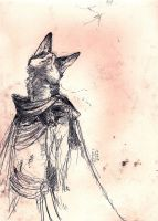 Fox looking Up. by Zethelius