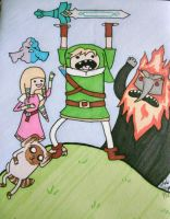 Adventure Time in Hyrule by hoshi-kagami