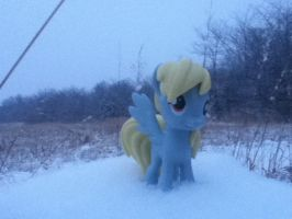 Derpy in the Snow (Pic 5) by zacorasfollower