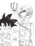 Trunks and Goten- Lakers vs Kings by trunkims