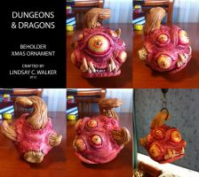 Dungeons and Dragons Beholder Ornament by puggdogg