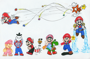 Mario Growth by Hyliaman