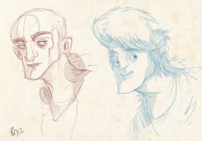 rough face doodles by SomethingEveryDay