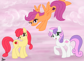 The Cutie Mark Crusaders by Elana-Louise