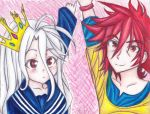 No Game No Life - Sora and Shiro by ShanaSonozaki
