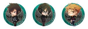 Psycho Pass badge-chibi set by Crazy-megame