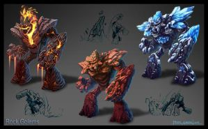 Rock Golems by madmagnus