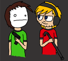 pewdiepie and cry by Jack-O-AllTrades
