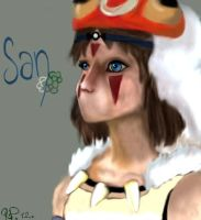 Princess Mononoke. by Cubbykusa