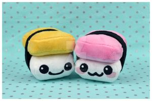 Spam Musubi and Tamago Sushi Plush by SewDesuNe