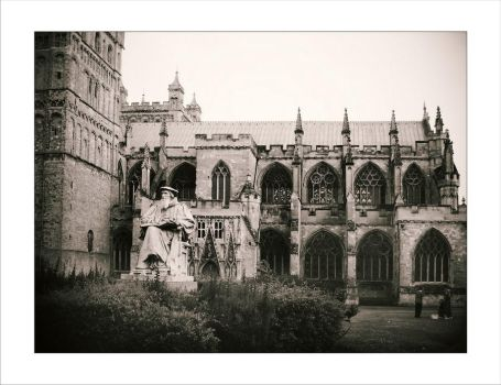 A cathedral is in Exeter_03 by Alex-fisher