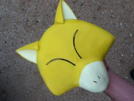 Handmade Abra Mask! Somewhat derpy! by Loonyhed