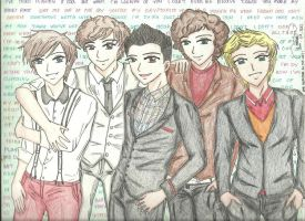 One Direction Sketch by MadWorld06