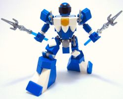 Mighty Morphin' LEGO Rangers: Blue Ranger by AndiusMaximus