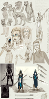 Character concept_Sketches part36 by Kasimova