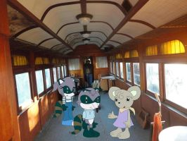REQUEST: Bentley and Nutsy on a train by YRT9401