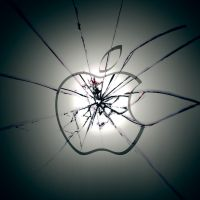 iPad Apple Wallpaper Shattered by thekingofthevikings