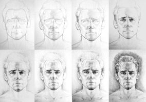 Tom Hiddleston - step by step by DafnaWinchester