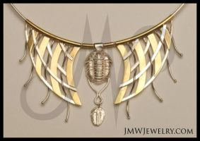 Trilobite Fossil Set Closeup by JMWJewelry