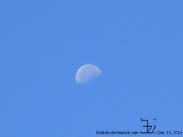 Moon 20141213 0830 by K4nK4n