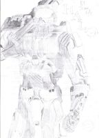Master Chief drawing by Insane-Rob