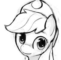 Applejack Sketch by Inkwel-MLP