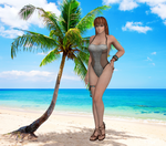 Kasumi tropical swimsuit by Toshiie1