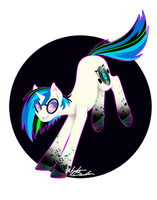 Rainbow Power - Vinyl Scratch by FuyusFox