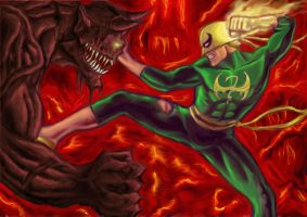 Iron Fist Alt costume vs Demon by Dreee