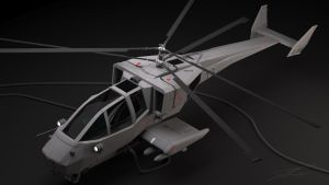 X-58 Coaxial Rotor Helicopter by dcoley