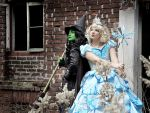 Elphaba and Glinda by Sasouri