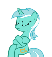 Sitting Lyra Heartstrings Vector (HD) by IvaCatheriaNoid
