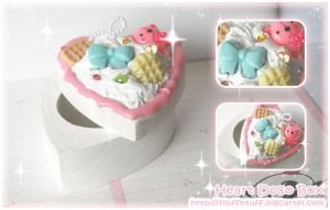 Heart Deco Box by Fluffntuff